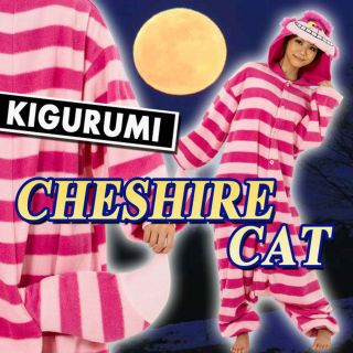 NEW Kigurumi Disney Cheshire Cat cosplay costume party pajama