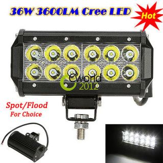 Work Light Bar Off Road Car Flood Beam 12V 24V Boat jeep Truck Suv ATV