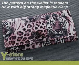 Lady Women Girl Long Wallet Purse Coin Bag   Cool Pink Tiger Leopard