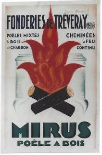 Original vintage poster MIRUS FRENCH STOVE Loupot 1928