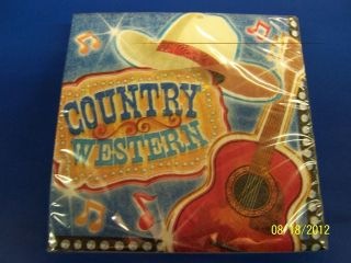 Country & Western Music Cowboy Birthday Theme Party Paper Beverage