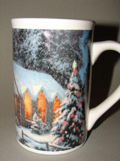 THOMAS KINKADE Christmas Chapel 1 Coffee MUG Tea Cup Horse Tree Snow