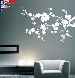Removable Art Vinyl Decal Sticker Cherry Blossom Branch Flowers 200