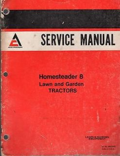 ALLIS CHALMERS HOMESTEADER 8 LAWN & GARDEN TRACTOR SERVICE MANUAL P/N