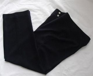 CHICOS Womens Navy Blue Zip Button Pants Petite ~ Size 2.5 Medium 14