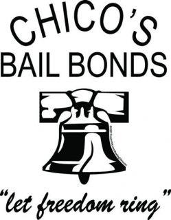 CHICOS BAIL BONDS classic 50S White/Black retro bowling shirt  BAD