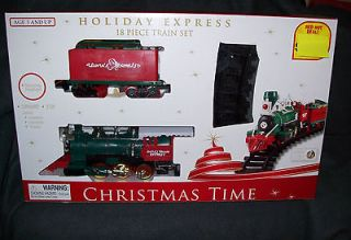 CHRISTMAS Holiday express train 18 PS TRAIN SET CHRISTMAS TIME 16