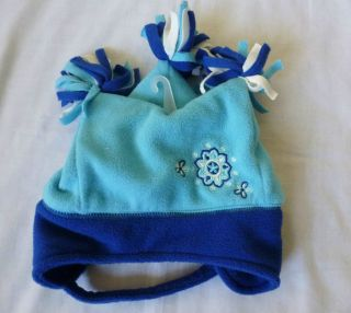 The Childrens Place Boys Blue Court Jester Winter Hat W/Neck Strap