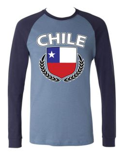 Of Arms Long Sleeve Baseball T shirt Olympic Games Chilean Football