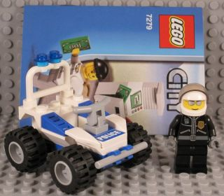 Lego City Police   Officer minifig & ATV car cop buggy instructions
