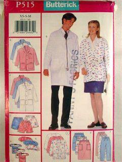 PATTERN B515 SCRUBS FOR MEN & WOMEN COAT JACKET SKIRT PANTS SHORTS HAT