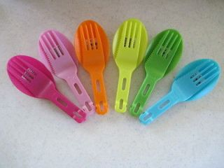 Spork Folding Spoon Fork Knife Camping Survival Pink Orange Yellow