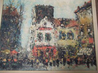 Jean Remy Painting Original Parisian Street Scene