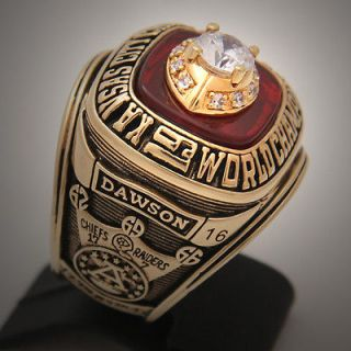 Newly listed KANSAS CITY CHIEFS 1969 SUPER BOWL NFL RING 65 GRAMS  18K