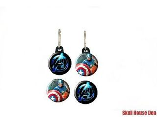 Avengers Captain America Chris Evans zipper pulls w/ buttons