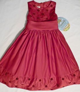 CINDERELLA Red Sateen with Pearls Special Occasion Party Pagent Dress