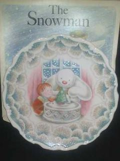 Royal Doulton The Snowman Plate snowman christmas cake rare 8