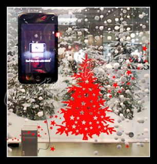 Large Christmas Tree & Star Show Window Shopwindow Wall Art Decoration