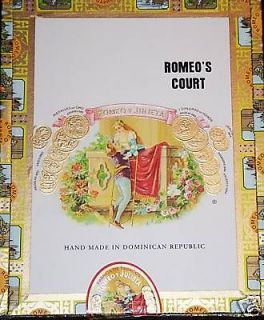 Romeo Y Julieta Paper Covered Cigar Box [Romeos Court]