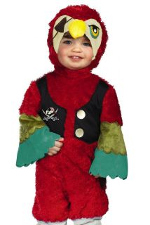 Toddler Baby Pirate Parrot Kids Halloween Costume 2T