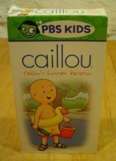 PBS Kids CAILLOU Summer Vacation VHS VIDEO