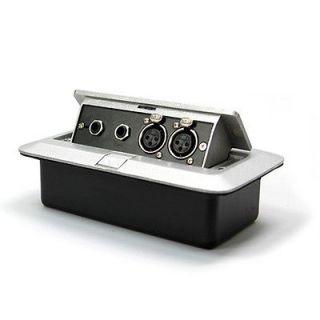 Metal Box ★ 2 XLRs 6.5mm mic 2 port multi Silver STAGE CHURCHES