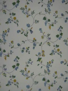 LOT 3 DR SCHUMACHER White Blue Vine Flowers Wallpaper