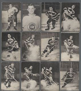 1952 53 St. Lawrence Sales Hockey Lot of 71 cards