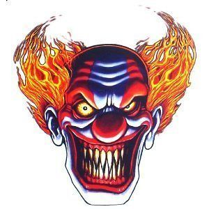 Evil Clown Sticker/Decal   car/bike