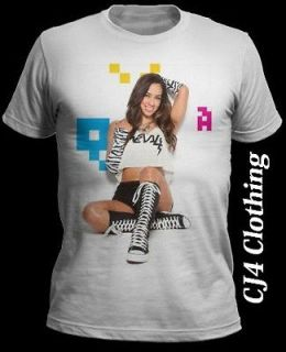 Lee WWE Divas Printed T Shirt S M L XL John Cena CM Punk Sexy Girl CJ4