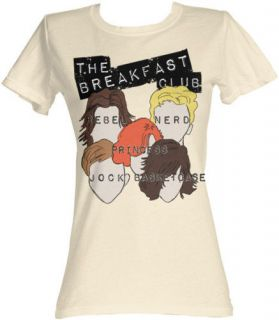 THE BREAKFAST CLUB STEREOTYPES JUNIOR TEE SHIRT S  XL