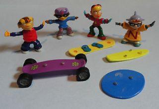 Nickelodeon Rocket Power Kids Meal Toys Otto Reggie Sam Twister Lot
