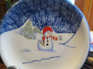 Thomson Pottery Snowman Dinner Plates Mint