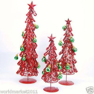 Red Wrought Iron Christmas Tree Ttower Christmas Knick Knacks Crafts