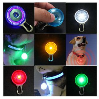 Light Circular Pendant Decor Clip on Safety for Pet Dog Puppy Collar