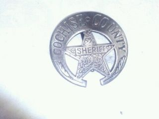 Cochise County Sheriff Law Enforcement Badge Free S&H