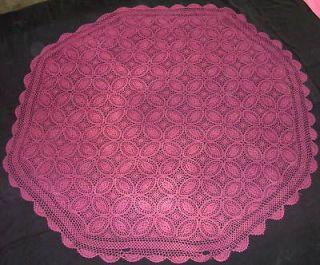 handmade crocheted table cloths