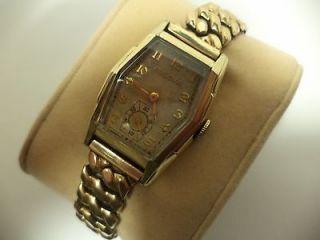 Newly listed Mens Vintage Circa 1937 Bulova Watch Art Deco RGP Swiss