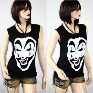 Insane Clown Posse Metal Rock DIY Sleeveless Raw Edge Vest Indie Style