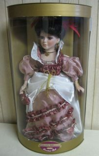 COLLECTIBLE MEMORIES GENUINE PORCELAIN DOLL DANIELA PINK OUTFIT IN