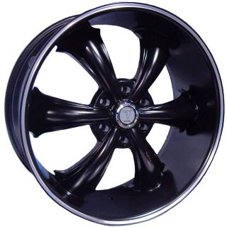 Dcenti DW19 Black Wheels rims&Tires fit Chevy Nissan Cadillac OLD CARS