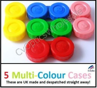 Contact Lens Soaking Storage Cases Coloured Mix