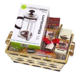 Godiva Coffee with Fresco French Press   Gourmet Gift Basket