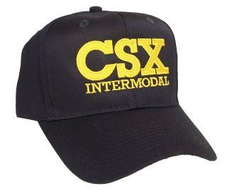 CSX Intermodal Railroad Embroidered Cap Hat #40 6022