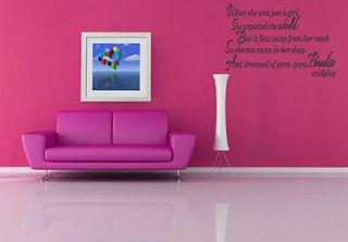 Coldplay Paradise Song Lyrics Wall Vinyl Art Sticker Decal Lounge