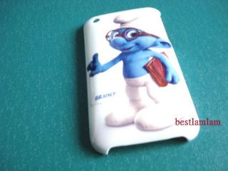 New THE SMURFS Brainy Hard case back Cover for iphone 3G 3GS