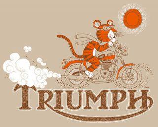 Triumph Tiger Motorcycle Shirt   Retro Vintage Style