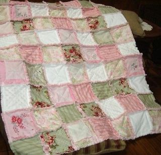 Pre Cut OH SO SHABBY PINK ROSES Quilt Kit Squares,Blocks