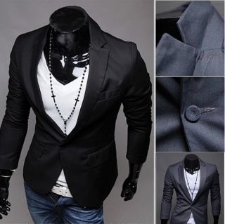 2012 New Men SlimFit Wedding Dress Suit Boy Casual Blazer 2Color