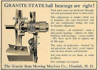 1911 Ad Granite State Mowing Machine Co Hinsdale NH   ORIGINAL